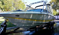 Pristine condition, 2004 22ft Regal, Fast Trac Bow Rider, with 300 HP Merc Cruiser 350 i/o Low hours, fully loaded, well maintained serviced locally at Dundas Marine, winter stored in heated indoor store age, equipped with optional ski/wake tower, docking
