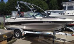 CAPTAIN'S CALL EXHAUST, DOCK LIGHTS, SWING AWAY TONGUE TRAILER, WAKEBOARD TOWER AND RACKS!