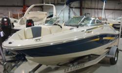 DEAL PENDING - Get Ready for Warmer Weather with this gorgeous Sea Ray 185 Sport. Two tone colour and upholstery, Mercruiser 4.3TKS 190hp Powertrain Package and seating for 7. A full fiberglass floor, stringer system and Sea Ray quality will allow for