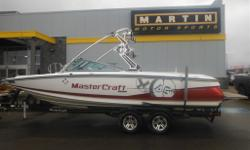 $270 Bi-Weekly Exceed expectations with this 2009 MasterCraft X45 featuring room for 18 friends, a powerful Indmar 6.0L engine, and ballast system with wakeplate. 18-Person Seating Capacity ZFT3 Tower Tower Speakers - 4 Perfect Pass Cruise Control Wake