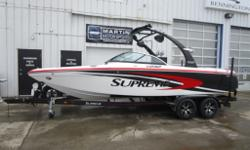 $266 Bi-Weekly Plenty of Versatility in this Stylish Great All-Around Watersports Boat! 340 HP PCM 350 Crusader Engine Tower with 2 Speakers Swivel Board Racks Analog Dash Display Amp/Sub Stereo Fire Extinguisher Cupholders Heater Ballast System