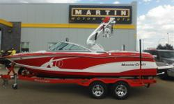 $330 Bi-Weekly With only 60 hours, this X10 is ready to bring you awesome wakes courtesy of MasterCraft's Gen 1 Surf System. Ilmor 5.7L Engine 14-Person Seating Capacity Gen 1 Surf System ZFT4 Tower 2 Tower Speakers 2 Tower Lights GPS Cruise Control