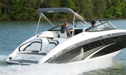 A sporty, 24-foot showcase of all-new technologies including Yamaha's Advanced Responsive handling package, Yamaha Quiet Cruise sound dampening, Connext? touchscreen interface and a convenient port side entertainment station with beverage center. Design