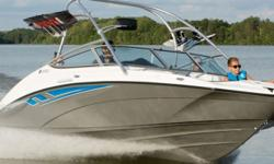 The ultimate family watersports boat delivers a superior jet power experience driven by reliable, twin 1052cc Yamaha Marine engines. These craft get on plane quicker with less bow rise to provide the perfect towing platform. Premium upholstery upgrades