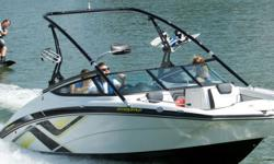 At 0-30 MPH in under 4 seconds, this is the ultimate choice for enthusiasts who want an energetic watersports boat with premium amenities at a price that's thousands below the competition. This top-seller is powered by twin 1.8 liter High Output Yamaha