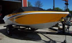 Great Ski Boat from Glastron that will still fit in your Garage with the Swing Tongue Trailer. The 4.3 l Mercruiser engines delivers loads of power to pull skiers, Wakerboards and tubes. The Glastron Sport Seating provides all the room needed for you and