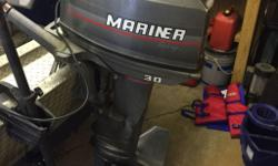 "1996 30 hp Mariner with 20"" leg with extra prop for sale, low hours, leg oil changed every season. asking $2500.00 O.B.O"