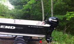 We are selling our 16 foot 2013 Legend wide-body boat with live-well 20 horsepower Mercury 4 stroke electric-start with Karavan trailer Around 30 hrs asking $6000 OBO please call Lanny 250 616 2903 or email amandaspencley@hotmail.com