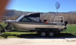 Only 196 hrs on 496 chevy 8.1L, 212 hamilton pump with turbo impeller and kicker cleanout. 9.9 merc, captain seats,UMHW skid plate and many more extras. This boat is built to take the family to the lake or up the meanest rivers hunting. GPS and fish