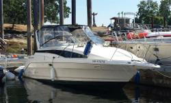 This 1996 Bayliner 2855 Ciera Sunbridge is a wide beam family cruiser. She is roomy, stable & comfortable. Perfect for overnighting, fishing and entertaining. Ready to go and enjoy. Her features include: Mercruiser 300 H.P. 7.4L V-8 Bravo III Outdrive