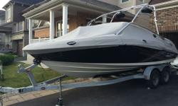2009 Yamaha AR210 twin inboard engine bow rider wake board boat. (purchased new 2010). Seats up to 12. Infinity sound system including wake board tower speakers, back swim deck which is good for fishing with table. 9 foot centre beam so boat is extra wide