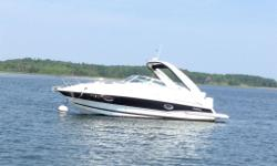 Only 60 Hours, yes... sixty! 28.5' with swim platform, 26' without -375HP, Mercury 496 engine (Rare big engine for this model) -Bravo 3 Outdrive -Vaccuflush toilet with holding tank and macerator (or dockside pump out) -Fridge, microwave, and cooktop