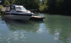 boat is in perfect working order . comes with trailer , new 350 volvo penta engine, canvas could use a bit of work