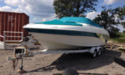 This boat is in excellent condition, Volvo Penta driveline, twin prop outdrive, very modern look for it's year, comes with the trailer, The trailer has four brand-new rims and tires. Call Chris 905-334-4028