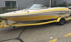2005 Tahoe Q4 with matching single axle trailer that is eqiuipped with surge brakes. everything is in good working condition. No scratches in hull. AM/FM/CD stereo, 190 Hp mercruiser 4.3L engine. No problems with engine. Large swim platform at the rear