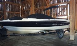 2011 Bayliner 215. Comes with foldable tounge trailer with mounted spare time. been stored inside every winter and serviced at the dealership. Trailer stored in summer. low hours 2 batteries extended swim platform. Has sun shade and plastic windows. 5.0