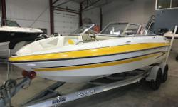 WOW!! LESS THAN 50hrs!! Gorgeous yellow Glastron. Snap in carpet, powered with a 220hp V8 Volvo Penta, Great condition inside and out. Please CALL (705)721-8486 New boats arriving daily! Huge inventory. Financing available OAC, Great Rates and Terms!