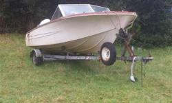 trailer in great shape, has paperwork, tail-light connections, and spare tire. motor is toast but boat in pre good shape. needs minor tlc (seats, ect...)excellent fixer-upper. consider trades. what ya got? although looking for a dirtbike 250 or bigger.