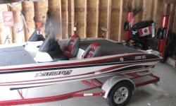 MINT 285xl Fully loaded stratos bass boat for sale . Not a scratch or rip on it. Looks brand new . Comes with 10'ft talons 2, HDS lowrance fish finders 82 lb minnkota trolling motor Hot foot Hydraulic jack plate Trim lever And much more