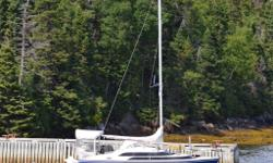 This 26? sailboat, complete with a Honda BF50 4-stroke 50HP engine, is capable of 22 knots. It is trailerable and it weighs less than 3500 Lbs (boat,trailer and engine). Uses a water ballast system, developed by MacGregor, with daggerboard and kick-up