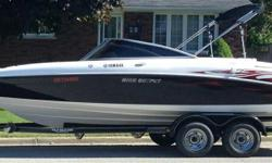 Purchased new in 2009. Boat is mint with low hours. All safety equipment, life jackets, ropes, black fenders, two tubes, skis, wakeboard, trailering cover, GPS/fish finder ( Northstar ) VHF radio ( Northstar), new trailer tires last year.