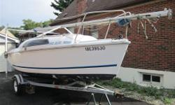 Beautiful HUNTER 212 with trailer (value 2500$) and outboard 5HP TOHATSU (nissan value 1200$) motor. Boat and motor in very good condition and vere not used for the last 3 years. Sails in very good condition and second set of brant new sails never used