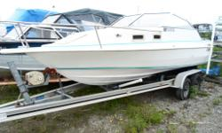 Needs a little TLC but if your looking for a great Canadian made boat with a cuddy, heavy duty trailer, meant for fishing than have a look at this. 1995 Cutter Profisher - features a Mercruiser engine. Priced to sell for $6500 - no financing this is a