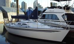 This boat is an unbelievable pleasure to sail and is fast. She comes with 2 main sails, 4 jibs and 2 spinnakers of varying size, age and materials. She was extensively redone in 2007 ($65k spent) including overhauling the Yanmar Diesel engine. She is