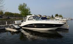Loaded 2008 Hardtop Express Cruiser from Larson. Boat is in top shape with many upgrades (helm electronics, nuteek flooring etc). Boat is in Midland for viewing. Weaver davit system and dinghy with 8 hp Evinrude also available. Additional Specs, Equipment