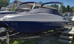 Only $149 biweekly, 120 months, $2500 down - open loan! In Stock in Blue and Black - This 2013 Starcraft 2018 Limited Bow Rider - Ticks all of the boxes and gives you the ability to hit large water and feel comfortable or get to the Sandbar and Relax!