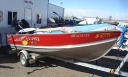 "Great heavy duty fishing boat. Comes with many extras(fish finder, seats,travel cover etc)!Motor and trailer included! Specifications Length Overall (LOA): 170 Beam: 70"" Chine Width: 55.5"" Approx. Wt. (lb): 285 / 295 Maximum HP: 35 Seats: 2 cross / 4"