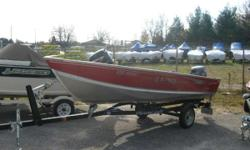 Just arrived, 2004 Lund 14'Utility package, 15HP Yamaha 4-stroke,Shoreland'r Trailer $3995.00 Additional Specifications Material: Marine-grade 5052 H34 aluminum Construction: Aluminum corner castings, double-riveted seams, heavy-duty transom, oven-cured
