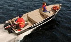 (Plus freight, prep, and rigging) CONSTRUCTION .100 gauge super-thick one-piece aluminum seamless hull bottom | Wave-slicing deep-V hull with hard chines and extra-wide bottom | Multiple .100 gauge bow ribs for maximum strength | .100 gauge full-width