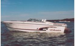Totaly redone in 2006 and hardly used since. New paint, custom built seats, new leather throughout, new carpet throughout, and new hull graphics. Has twin 350 merc's, pump out head, dual sinks, stereo, 2 covers, 12volt charger with new marine battery etc.
