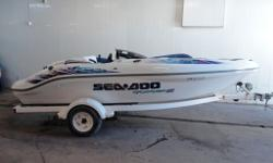 Check out this Sportster 1800! This boat is in super clean condition and is ready to hit the lake! It only has 272 hrs on it and the twin Rotax motors put up 170HP!! Includes bimini top and travel cover. Call Matt for details.....this boat must go!!