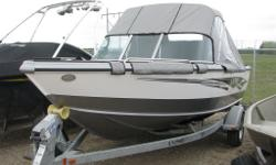with vinyl floor, 3 bank on-board charger, air ride upgrade 3 pro-ride seats, galvanized bunk trailer, spare tire, complete sport top set, Lowrance Elite 7 Chirp console, Minnkota Terrova 80Ipilot, Sea Star hydraulic steering, ski package, snap in carpet,