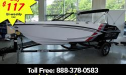 115HP Mercury elpt custom trailer bimini top sport graphics package ski bar pop up cleats bolster seats depth finder snap in carpet Whether you�?re into wakeboarding waterskiing or tubing the GTS 180 is ready to have some fun. This 18-foot