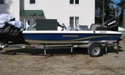 "Specifications Length Overall (LOA): 225 Beam: 89"" Max HP: 115 Rod Box Length: Center - 7' 6"" Model Name Length: 18' Fuel Capacity: 23 Total Persons, Motor, Gear - lbs.: 1320 Width on Trailer: 98"" Chrome Wheels: 13"" Approx. Length - on Trailer with"