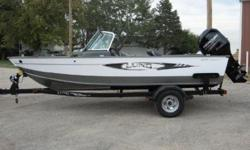 WITH 150 Hp Mercury Verado and Shoreland'r galvanized bunk trailer...also equipped with complete stand-up top, cockpit cover, vinyl main floor, Smartcraft guages, hydraulic steering, 4 pro-ride seats w/air ride, bow cargo nets, stereo, fire ext., aft