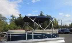 New Bennington's Are Here!!! Comes with everything you need for a fun-filled day on the lake CD Player, Docking Lights, Table, Bimini Top, Playpen Cover and much more...... Specifications: Length Overall 18'6 Pontoon Length 17'6 Beam 8'6 Pontoon Diameter
