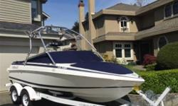 1999 Cobalt 190 bow rider. 5.0 L Mercruiser engine with 490 hrs. Alpha leg with a high five stainless prop. Serviced with 2 brand new batteries. Samson wake tower with speakers , halogen lights and board racks. 11 speaker stereo system with 2 amps. Garmin