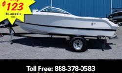 Volvo V6 4.3L 200hp stereo cover custom trailer with brakes. The perfect family runabout in a spacious 19â?? boat including a custom trailer. From the full width sun-pad to the to the fully finished ski locker this boat is ready to hit the water.Stable