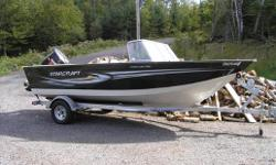 Boat has arrived! Here for viewing. This is a gently used fishing boat with low hours. Boat comes with a 150HP 4-stk Suzuki engine and a 9.9HP Suzuki kicker, trim tabs, stereo, deluxe seating, vinyl flooring and a galvanized trailer. *HST extra*
