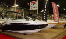 Reduced - Year End Inventory Clearance -EXT. SWIM PLATFORM, BOW AND COCKPIT COVERS, DEPTH GAUGE, TILT STEERING, BOLSTER SEATS, SNAP IN CARPET, CD PLAYER, REMOTE TRANSOM STEREO, PULL UP CLEATS, etc Custom match trailer.