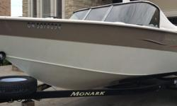 Aluminum Boat-2006 like Lund with new 2013 Optimax 150hp with MiniKota & Fish Hawk 2006 19.6' Aluminium Fishing Boat (Monark 20`) powered by brand new 2013 Mercury Optimax 150hp.(up to 45 ml.p.h). ITS is equipped with 4 swivel seats+2 position for fishing
