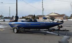 AMAZING BASS BOAT !!! Showroom condition.Only 31 hours. Every possible upgrade. 200HP Merc ProXS, Nassau Blue Metal flake, dual Hummingbird fish finders/GPS, Minn Kota Fortrex 80 US2 Trolling motor, port console w/glove box upgrade,3rd seat option, 3