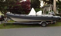 2007 Endurance 22' Rhib w/ 2001 Yamaha salt water series Fuel injected 225HP. Two Fuel tanks. Teak Deck. Standard Horizon GPS/ Depth S/VHF Sony Stereo, Captains Chair, Rod holders, rigged for down riggers, 2008 Galvanized EZ Loader trailer. Great shape