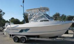 1998 AQUASPORT 225 WA POWERED BY TWIN JOHNSON 150'S ON A NEW ALLUM TRAILER. GREAT SHAPE. ALL THE TOYS. LOW HOURS. Low Hours 350, Twin Engines, Live Bait Well, Fish Finder, GPS, Hard Top, Equipped With Down Riggers, 1 Electric 1 Manual. Class: Power
