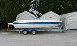 2006 Maxum 2000 SR3 Purchased price $41,783 from Olympic Boat Center, Surrey. 5.0 Litre engine with 260 hp...... less than 55 hrs run time Blue and white in color with snap in carpeting....making it easy to clean Garage Stored at 22.3' long and upgraded