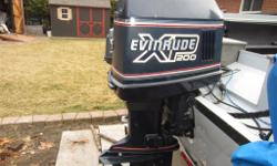 "Im selling my 1991 evinrude xp 200hp outboard, its oil injected and all original except for 2 brand new electronic components, its a 20"" shaft, It comes with gauges, cables,shifter, steering cable and rack. it startes and runs perfect, its still on the"